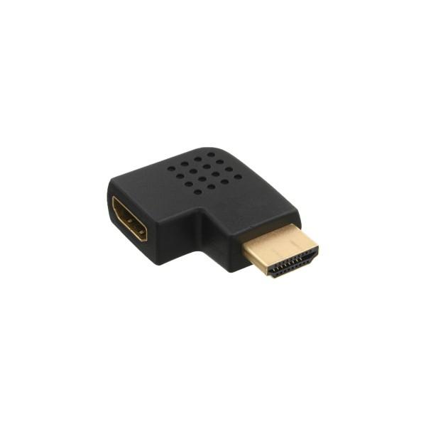 InLine® HDMI Adapter, Stecker / Buchse, seitlich links gewinkelt, vergoldete Kontakte, 4K2K kompatib