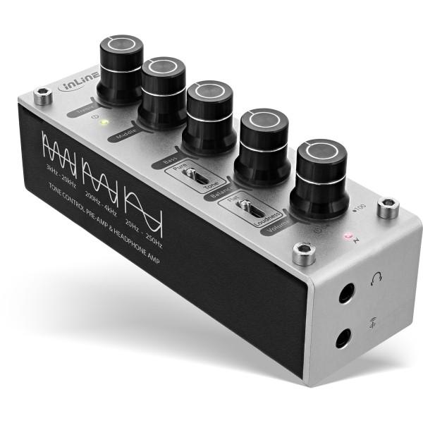InLine® AmpEQ Hi-Res AUDIO Kopfhörer-Verstärker und Equalizer, 3,5mm Klinke, USB powered