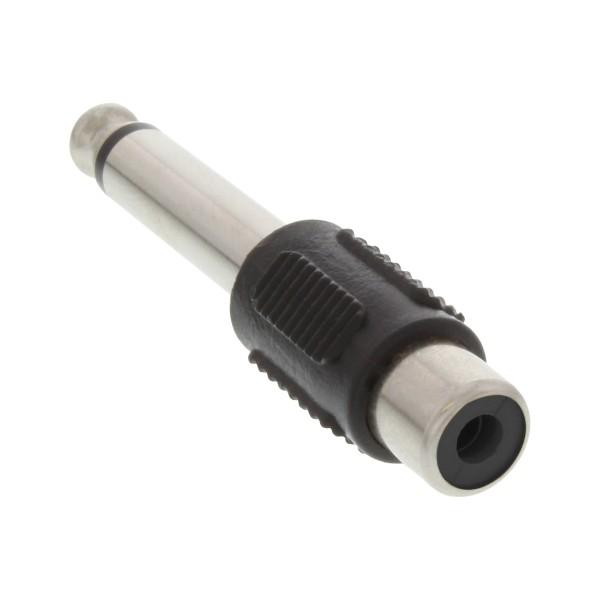 InLine® Audio Adapter, 6,3mm Klinke Stecker auf Cinch Buchse, Mono