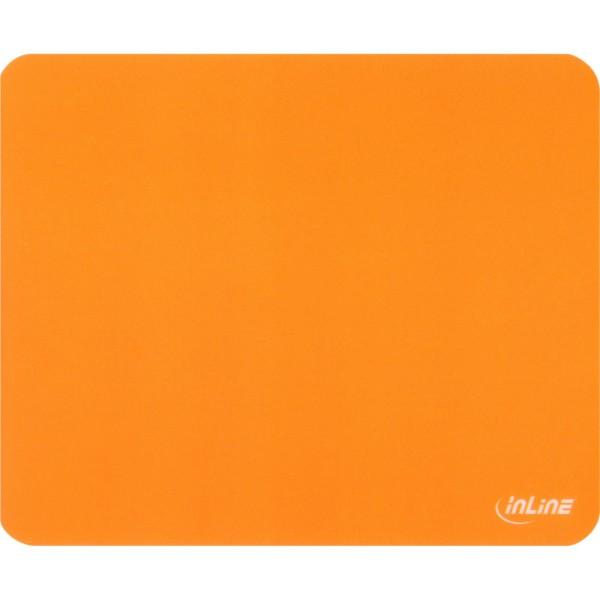 InLine® Maus-Pad antimikrobiell, ultradünn, orange, 220x180x0,4mm