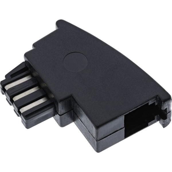 InLine® TAE-F Adapter, TAE-F Stecker auf RJ11 Buchse, für Import Telefone