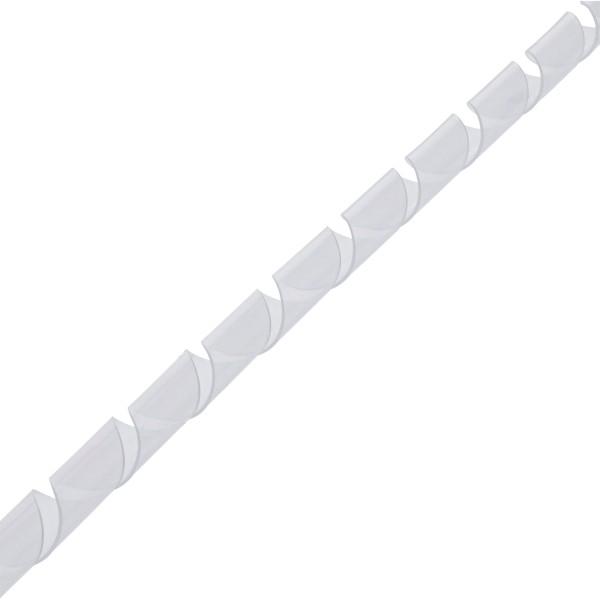 InLine® Spiralband 10m, weiß, 14mm