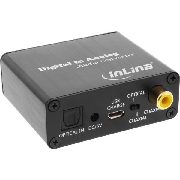Dieser 192 kHz Digital zu Analog Audio-Konverter wandelt und verstärkt digitale Audiosignale (optisc