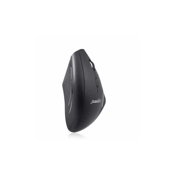 Perixx PERIMICE-608, programmierbare ergonomische Maus, schnurlos, schwarz