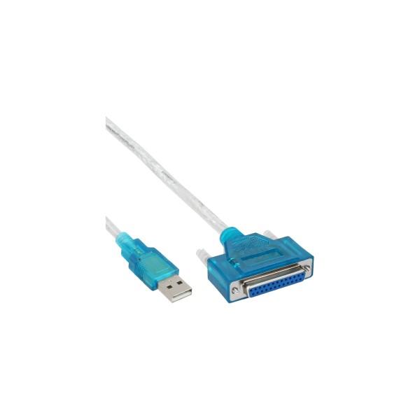 InLine® USB zu 25pol parallel, Drucker-Adapterkabel