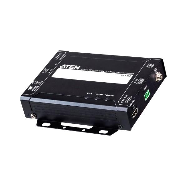 ATEN VC1280 2-Port 4K HDMI/VGA auf HDMI Konverter Switch