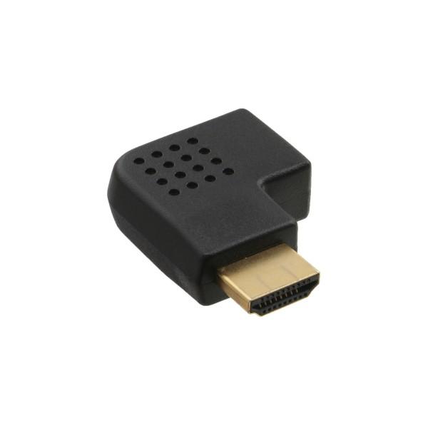 InLine® HDMI Adapter, Stecker / Buchse, seitlich rechts gewinkelt, vergoldete Kontakte, 4K2K kompati
