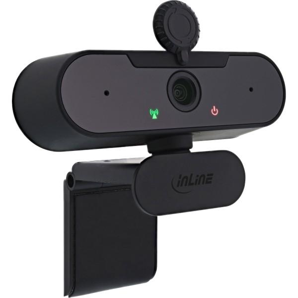 InLine® Webcam FullHD 1920x1080/30Hz mit Autofokus, USB-A Anschlusskabel